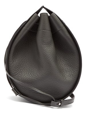 THE ROW drawstring round deerskin cross body bag