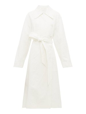 THE ROW efo stonewashed linen blend trench coat