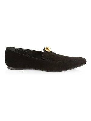 THE ROW embellished suede minimal loafers