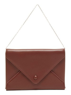 THE ROW envelope chain handle leather clutch