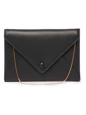 THE ROW envelope small leather clutch