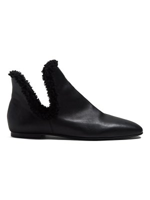 THE ROW Eros Leather Ankle Boots