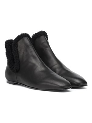 THE ROW eros shearling-lined ankle boots