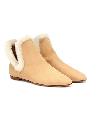 THE ROW eros suede ankle boots