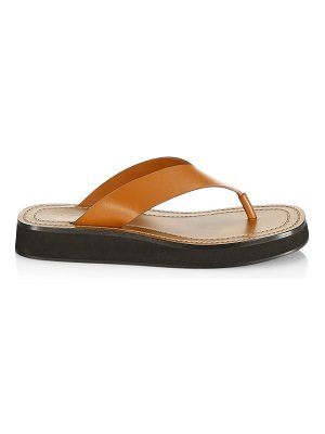 THE ROW ginza leather flip flops