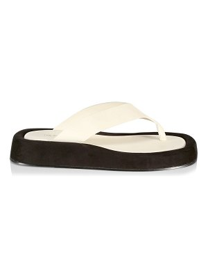THE ROW ginza platform leather flip-flops