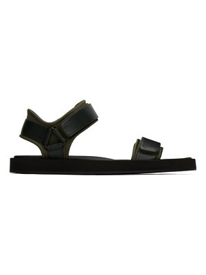 THE ROW green hook-and-loop sandals