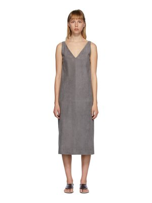THE ROW grey koya dress