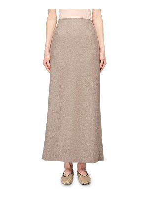 THE ROW Hena Cashmere A-Line Midi Skirt