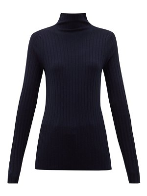 THE ROW high-neck ribbed-knit wool-blend sweater