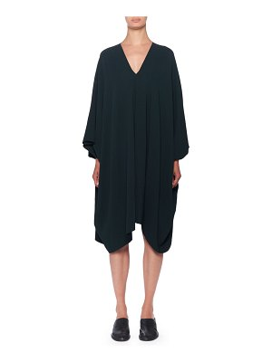 THE ROW Iona V-Neck Long-Sleeve Shift Dress