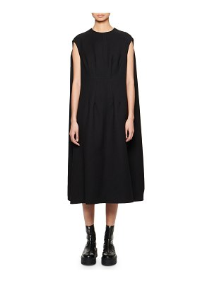 THE ROW Isandra Cape-Back Shift Dress