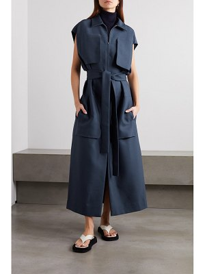 THE ROW jaan belted wool-blend dress