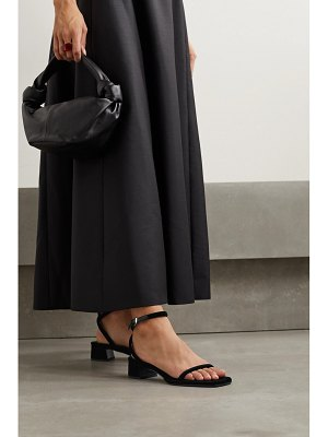 THE ROW kate leather-trimmed velvet sandals