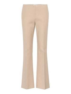 THE ROW keith cotton-blend flared trousers