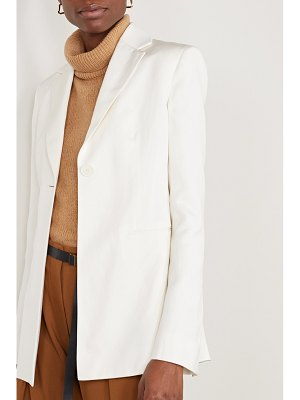THE ROW kiro silk and linen-blend blazer