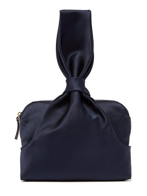 THE ROW Knotted Silk Satin Wristlet Clutch
