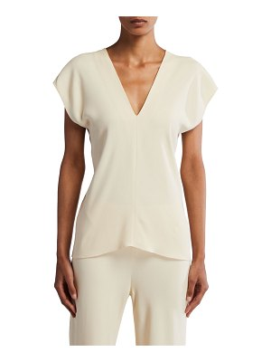 THE ROW Labo Georgette V-Neck Top
