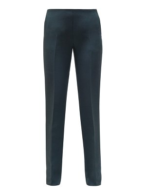 THE ROW ladan tailored wool-blend crepe trousers