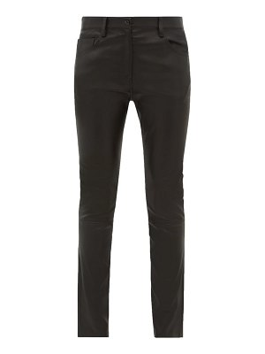 THE ROW landly stretch-leather trousers