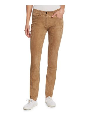 THE ROW landly suede pants