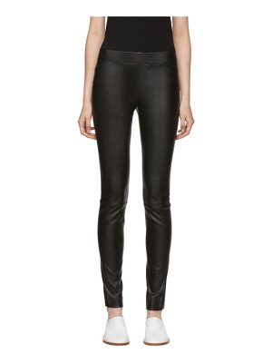 THE ROW leather moto trousers