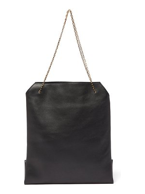 THE ROW lunch bag leather clutch