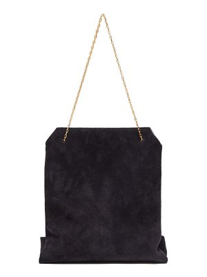 THE ROW lunch bag small suede clutch
