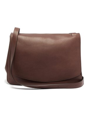 THE ROW mail large leather shoulder bag
