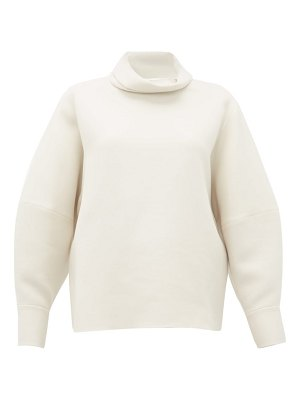THE ROW makie high neck wool blend top
