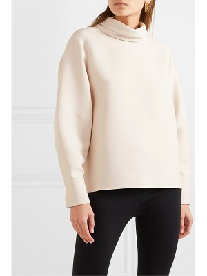 THE ROW makie wool and silk-blend turtleneck blouse