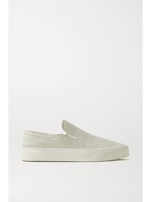 THE ROW marie h canvas slip-on sneakers