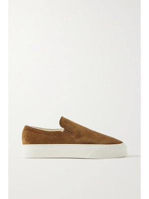 THE ROW marie h suede slip-on sneakers