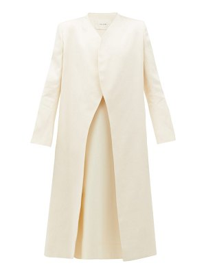 THE ROW marion curved-front cotton-ottoman coat