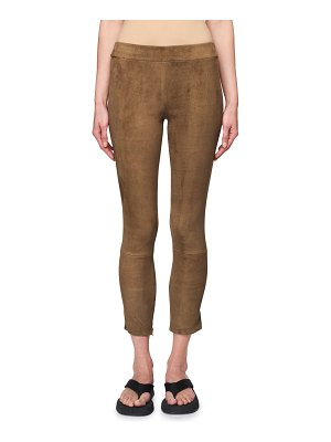 THE ROW Mino Cropped Suede Pants