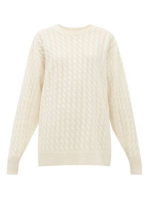 THE ROW minorj cable-knit cashmere-blend sweater