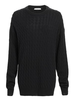 THE ROW minorj cashmere & silk cable-knit sweater
