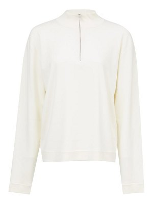 THE ROW molly zip-neck wool-blend sweater
