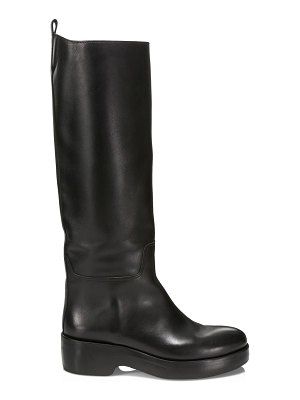 THE ROW motorbike tall leather boots
