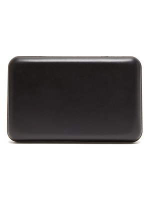 THE ROW moulder leather clutch