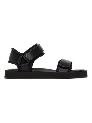 THE ROW navy ginza sandals