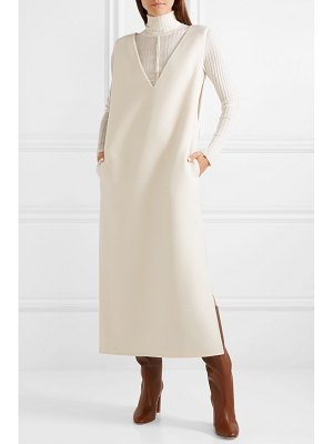 THE ROW neila cashmere and wool-blend maxi dress