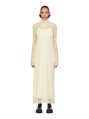 THE ROW off-white knit dieter dress