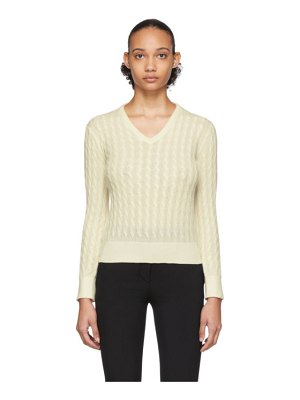 THE ROW off-white rozanne sweater