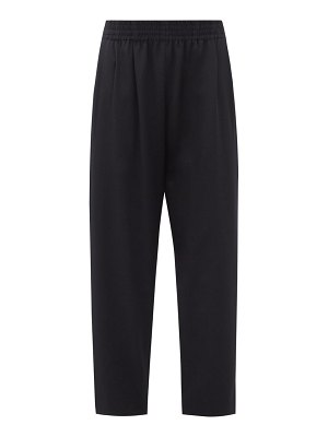 THE ROW olle elasticated-waist wool straight-leg trousers