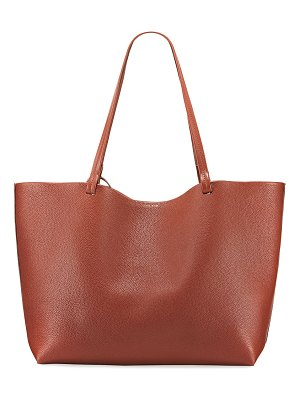 THE ROW Park Lux Grained Leather Shopper Tote Bag