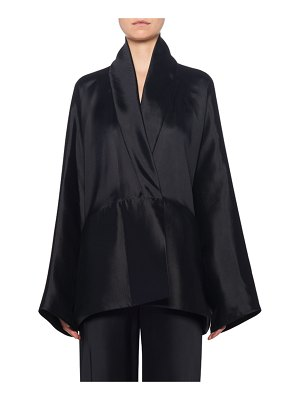 THE ROW Pernia Wrapped Silk Jacket