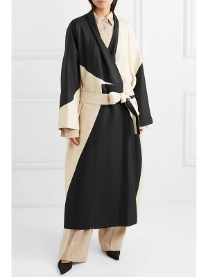 THE ROW pernise two-tone belted silk coat