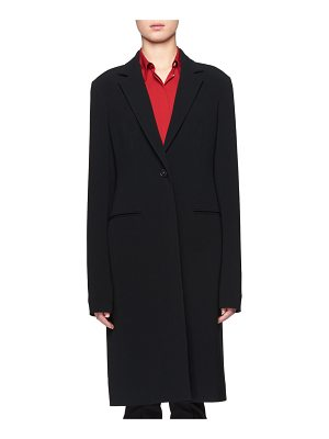 THE ROW Pryor One-Button Crepe Coat