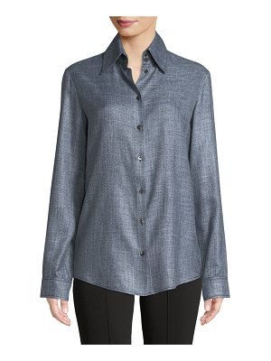 THE ROW Ravia Button-Front Long-Sleeve Bamboo Shirt